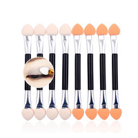 10pcs pack New Professional Makeup Double-end Eye Shadow Eyeliner Brushes Sponge Rod Cosmetic Make Up Applicator Tools