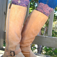 Brown Lace Boot Cuffs