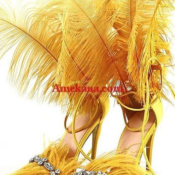Ava Feather Sandals(All colors)