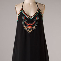 Gem Tunic Dress - Black - Hazel & Olive