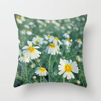 Spring daisies Throw Pillow by Guido Montañés