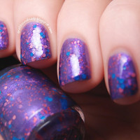 Grape Fizz Custom Purple Glitter Nail Polish