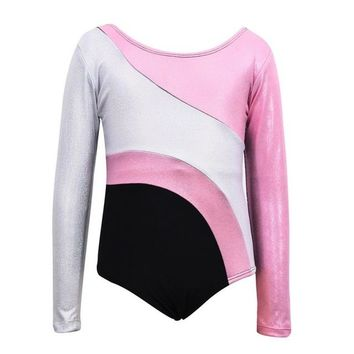 Colorful Stripes Leotard - Light Pink