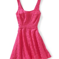 Lace Tie-Back Dress - Aeropostale
