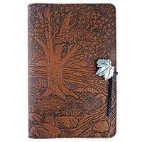 Creekside Maple Tree Embossed Leather Writing Journal, 6 x 9-inch, refillable