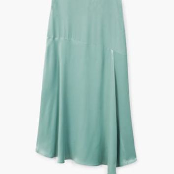 Satin asymetric skirt - Women | MANGO USA