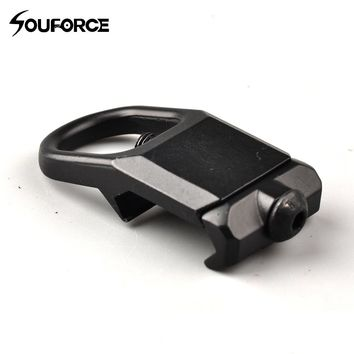 Aluminum Alloy Strap Buckle Hungting Belt Ring Fit for 20mm Rail Outdoor Travel Multipurpose Tool CS Buckle
