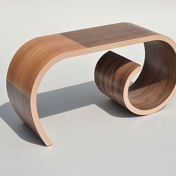 Small Toboggan Bench by Kino Guerin (Wood Bench) | Artful Home