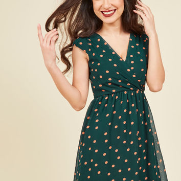 All She Wants to Do is Prance A-Line Dress in Pine | Mod Retro Vintage Dresses | ModCloth.com