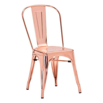 Anita Metal Chair Set of 2 ROSE GOLD