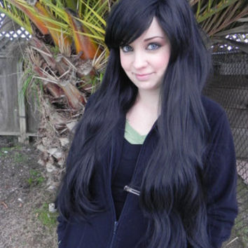 ON SALE / Black / Long Wavy Straight Layered Wig Extra Thick