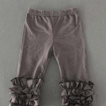 Girls Gray Ruffle Pants