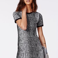 CODI SNAKE SCALES SHIFT DRESS GREY