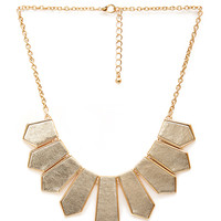FOREVER 21 Matte Faux Leather Necklace Gold/Silver One