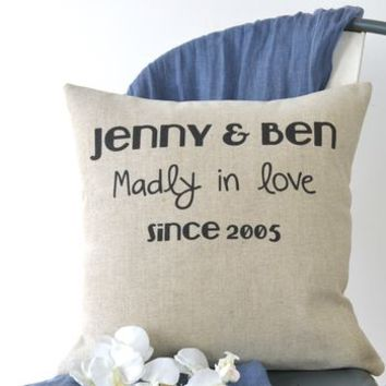 Madly In Love Couple Cushion Cover