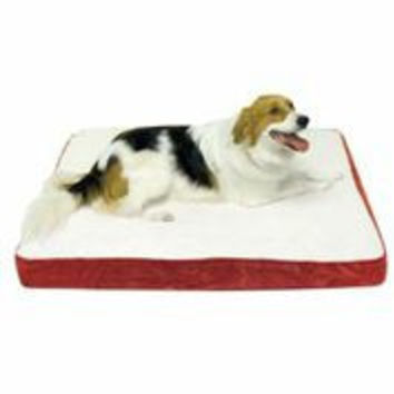 Orthopedic Oscar Dog Bed Replacement Cover - Crimson