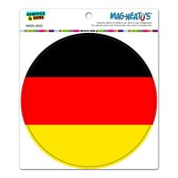 German Germany Flag - Circle MAG-NEATO'S TM Car-Refrigerator Magnet