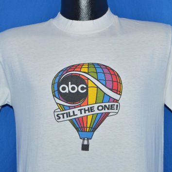 70s ABC Rainbow Hot Air Balloon t-shirt Small