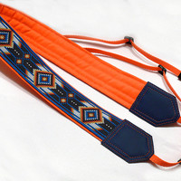 Native American Camera strap.  Southwestern Ethnic Camera strap.  DSLR Camera Strap. Camera accessories.  Nikon Canon camera strap.