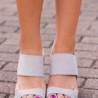 Sitting Pretty Wedges, Taupe