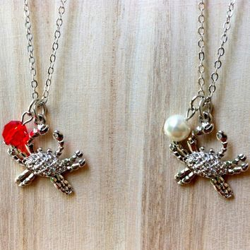 Zodiac Sign: Cancer crab necklace