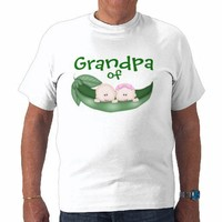 Grandpa of Mixed Twins T-shirt from Zazzle.com