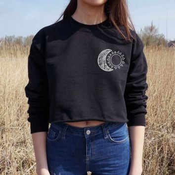 Hot Sexy Hippie Punk Stars Moon Religion Hip-hop Style Sweater Pullover