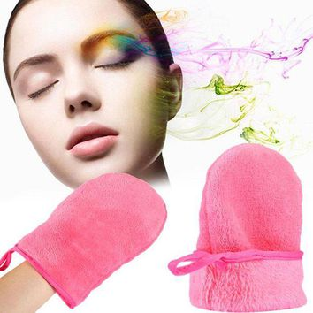 DCCKKFQ 2018 New Soft Makeup Remove Glove Portable To Carry Makeup Remover Towel Cloth For Women Lady Face Clean Tool
