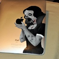 Zombie Princess Decal for iPad / iPad2 / the new iPad - glossy vinyl sticker
