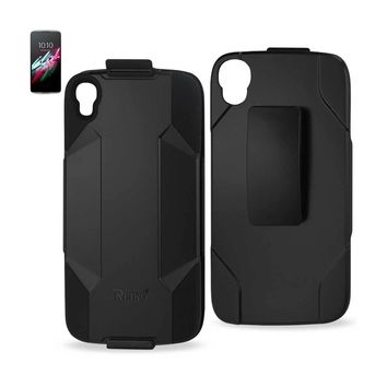Alcatel One Touch Idol 3, 3-In-1 Hybrid Heavy Duty Holster Combo Case (Black)