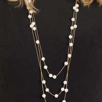 Valerie Long Pearl Necklace