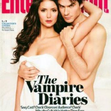 Vampire Diaries Entertainment Weekly Cover poster Metal Sign Wall Art 8in x 12in