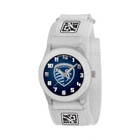 Game Time Rookie Series Sporting Kansas City Silver Tone Watch - MLS-ROW-KC - Kids (White)