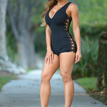 Saddle Ranch Romper - Black