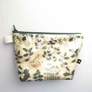 Field Guide to Trees II Flat Bottom Pouch Small (handmade philosophy's pattern)