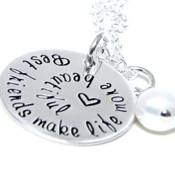 Personalized Jewelry - Necklace - Hand Stamped Sterling Silver