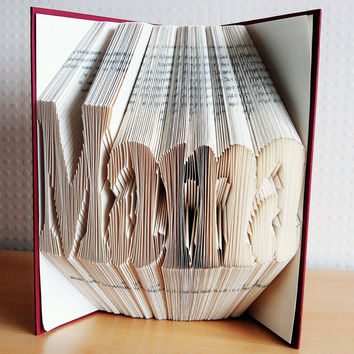 Mother's Day Gift - Folded Book Art - MAMA - Book Sculpture - Book Lover - Home Decor - Presents for Mothers / Moms - Handmade - Unique Gift