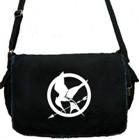 Hunger Games Messenger Bag Mockingjay Large Black Laptop Bag