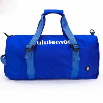 Lululemon sports bag swimming gym bag single shoulder bag, taekwondo bag.BLUE