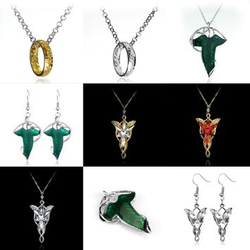 Lord of Rings Arwen Evenstar Jewelry Necklace The Elves Princess Green Collar Pulseras