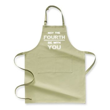 May The Fourth Be With You Star War, Independence Day Apron