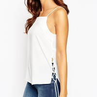 ASOS Cami with Lace Up Side Detail