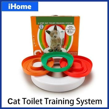High Quality Cat Toilet Training kit Professional Train Love Clean Cats Use Human Toilet Easy to Learn Litter lavatory box gift
