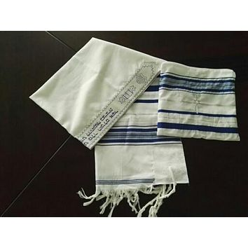 Jewish Messianic Tallit Talit Prayer Shawl & Talis Bag