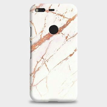 White Rose Gold Marble Google Pixel 2 Case | casescraft
