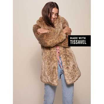 African Golden Cat Luxe Faux Fur Coat