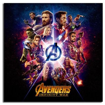The Avengers Infinity War Poster Marvel HD Painting Living Room Wall Art Print On Canvas Decorative Picture Home Decoration