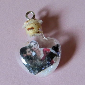 Ship in a Bottle Once Upon A Time Emma Swan Captain Hook Tiny Heart Charm for iPhone, Samsung, Nintendo, PSP, PS Vita or iPod