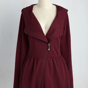 Juneau How I Feel Jacket in Burgundy | Mod Retro Vintage Jackets | ModCloth.com