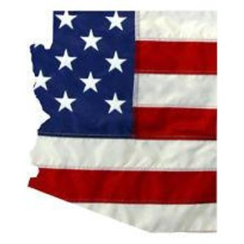 State of Arizona Realistic American Flag Window Decal - Various Sizes